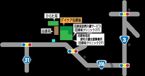 デイケア 田原坂 地図