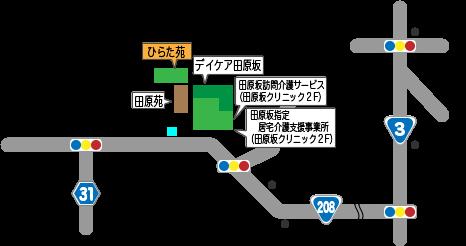 ひらた苑 地図