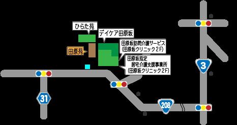 住宅型有料老人ホーム 田原苑 地図